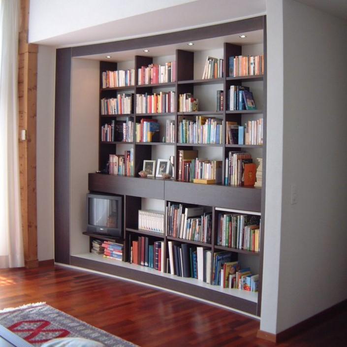 Bücher und Medien Einbaulösung 1